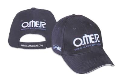 cappello cotone ricamato con logo TEAM  OMER, BREATHLESS EMOTIONS CAP